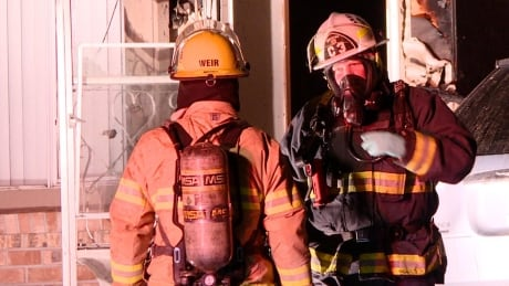 Firefighters in Mission battle blaze right across from fire hall