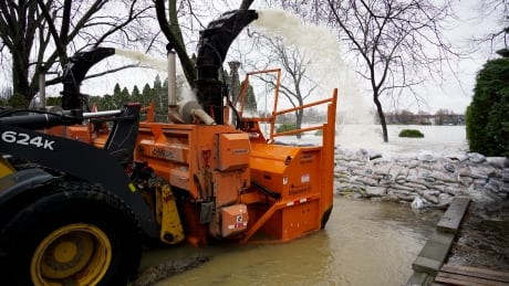Snowblowers aren't just for snow. They are also 'de facto pumps' used to fight the flood