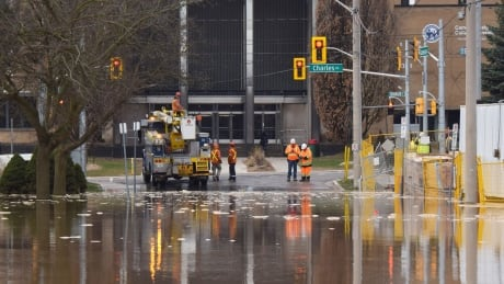 This is what a water main break that cuts off water to 2 cities looks like