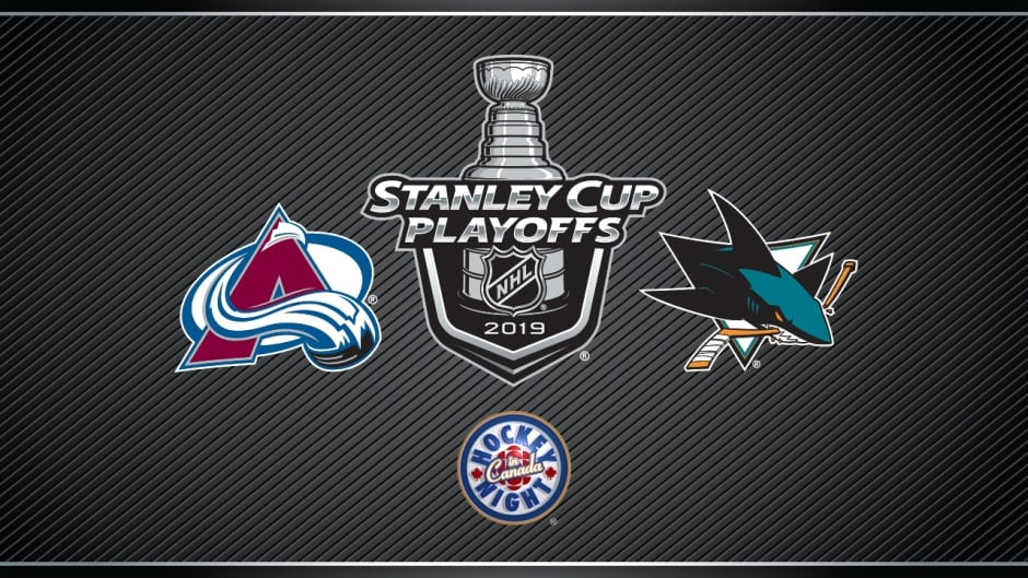 Stanley Cup Playoffs On Hockey Night In Canada Avalanche Vs Sharks