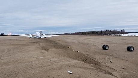 Medevac plane badly damaged during emergency landing at Gillam, Man.