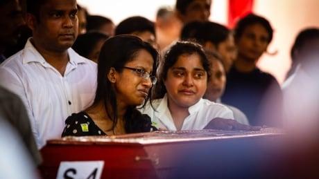 Mass funeral in Negombo, Sri Lanka after bomb blasts