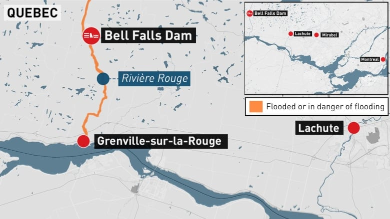 Evacuation complete downstream of Bell Falls Dam  Now