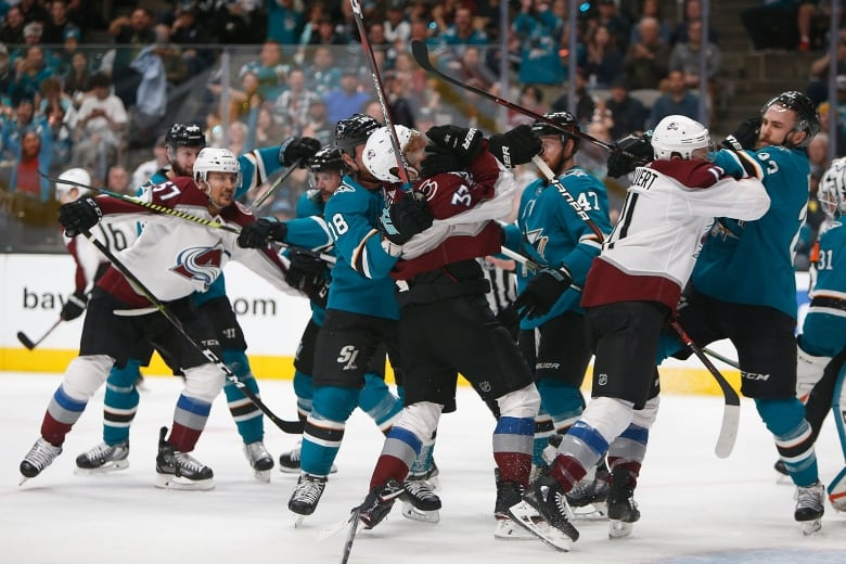 Avalanche Hold Off Sharks' Comeback to Even Series