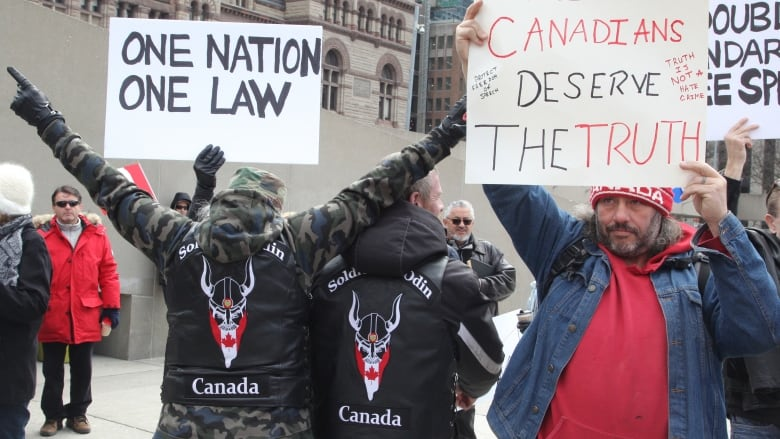 Banned by Facebook, shunned by politicians, Soldiers of Odin hold event at Royal Canadian Legion branch