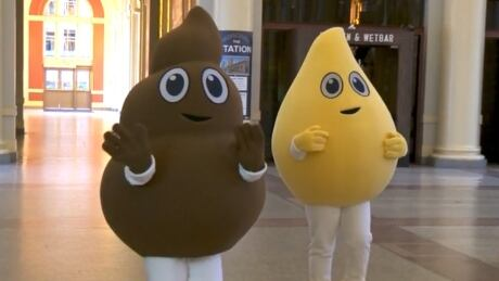 Pee and Poo mascots