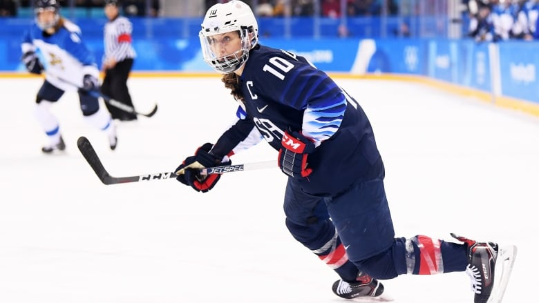 295b5a8dd Meghan Duggan, pictured here at the 2018 Olympics, says that history shows  women's professional leagues thrive and are very successful when working  with an ...