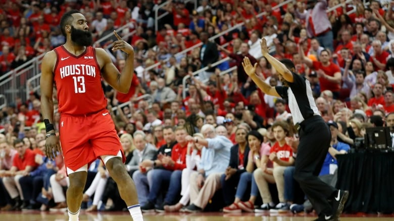 6712a5b71920 Harden s big bucket leads Rockets to OT win over Warriors. James Harden  made a big three-pointer in overtime and scored 41 points ...