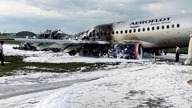 Russian pilot says plane was struck by lightning, crash killed 41