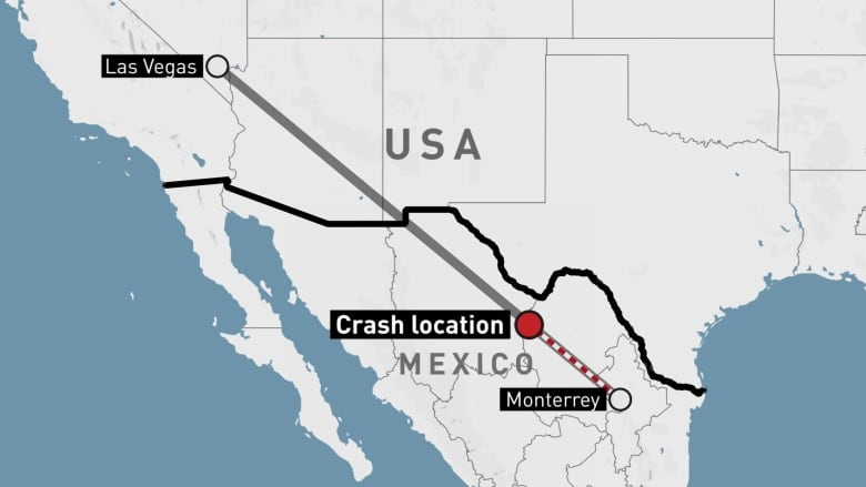Private jet en route to Mexico from Las Vegas crashes killing 13