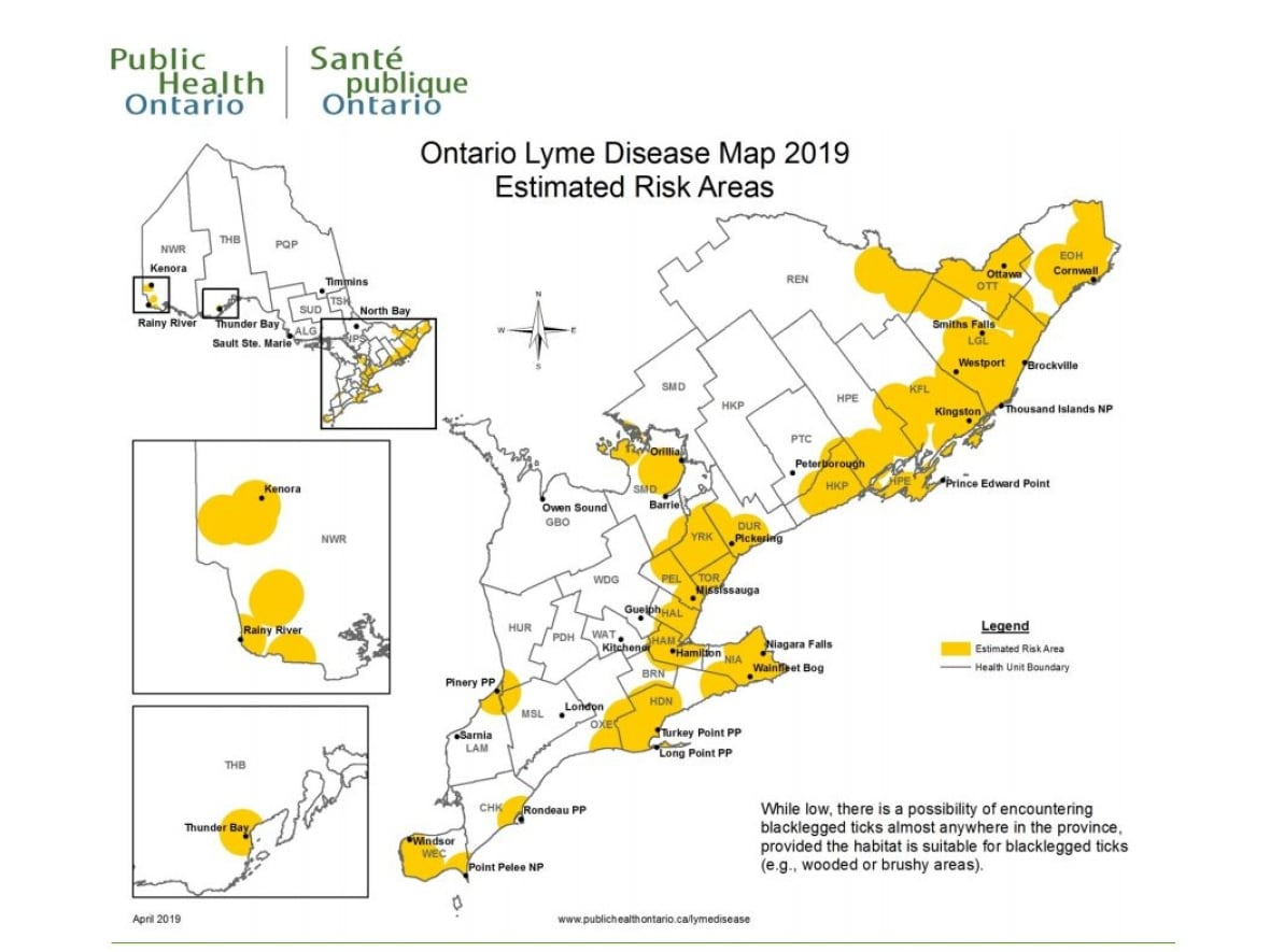 Lyme Disease Ontario Map Lyme Disease risk areas are up from last year: Public Health