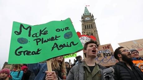 Climate protest in Ottawa