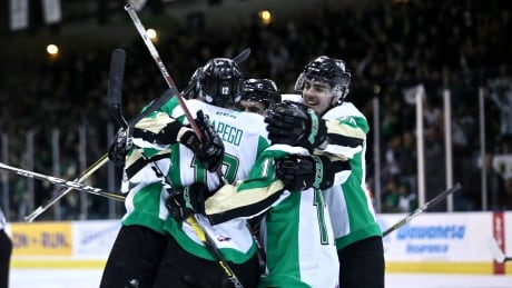 Prince Albert Raiders celebration