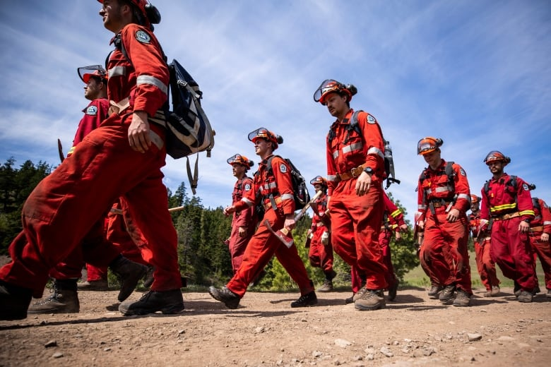 Boot camp puts B C  firefighter recruits to the test as wildfire