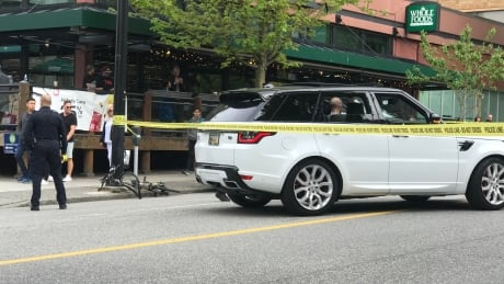 cyclist struck in downtown vancouver