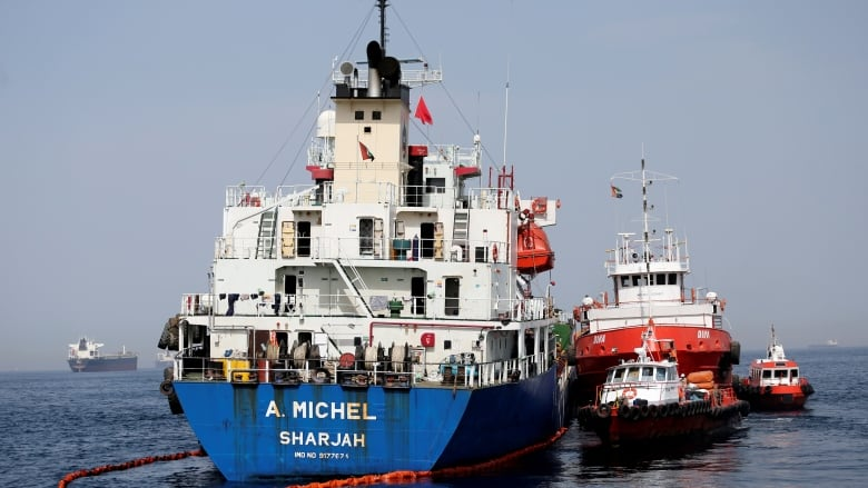 Saudi oil tankers, one UAE and Norway vessels damaged