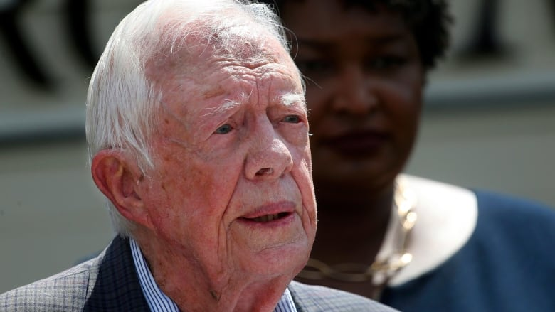 Former US President Jimmy Carter hospitalized after breaking hip, spokesperson says