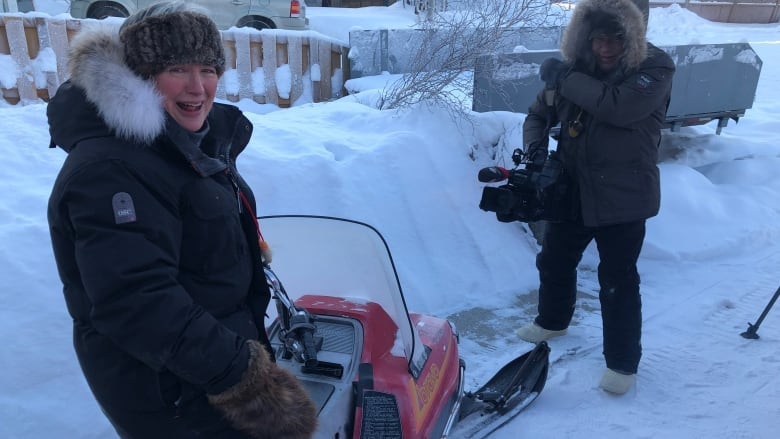 Memories flood back for Yellowknife woman reconnected with her first snowmobile