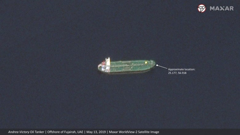 Satellite images show no major damage to 'sabotaged' ships