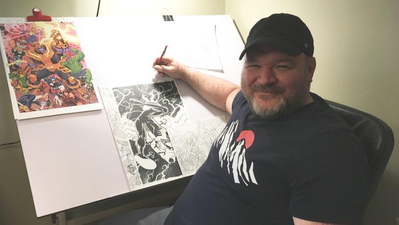 a458c7603c6 Moncton illustrator having a MARVEL-lous year | CBC News
