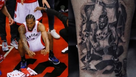 'I wanted to pay tribute': Raptors fan immortalizes Kawhi Leonard's iconic buzzer-beater with a tattoo