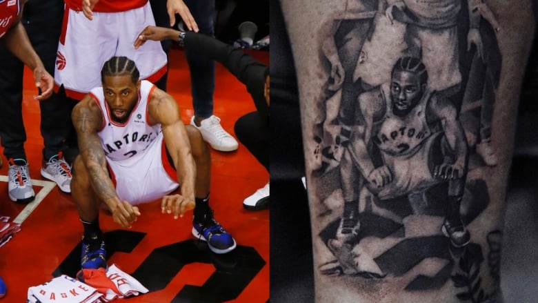 7f251c1dd 'I wanted to pay tribute': Raptors fan immortalizes Kawhi Leonard's iconic  buzzer-beater with a tattoo