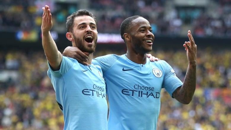 Man City blast Watford to cruise to treble
