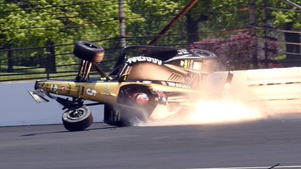 Canada's James Hinchcliffe uninjured after crash at Indy 500