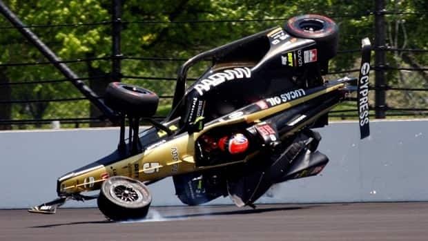 Canadian James Hinchcliffe okay after scary crash at Indy 500