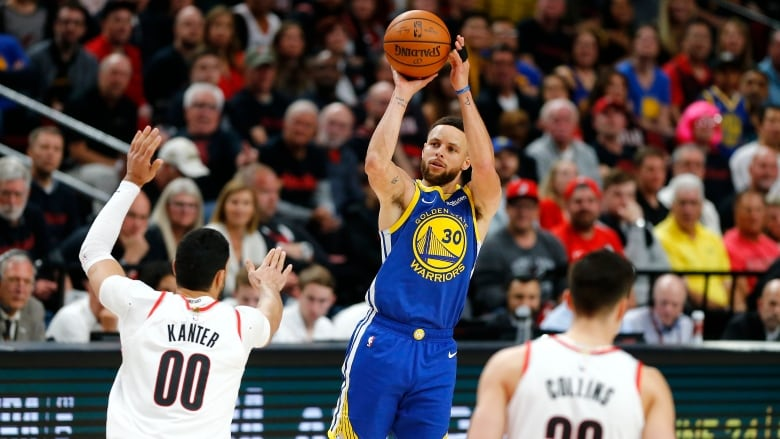 023731491e9d Stephen Curry led all scorers with 36 points as the Golden State Warriors  defeated the Portland Trail Blazers 110-99 in Game 3 on to take a 3-0 lead  in the ...
