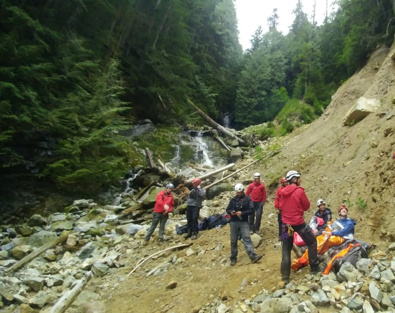 Girl, 6, and boy, 7, rescued after spending night alone on B.C. mountain