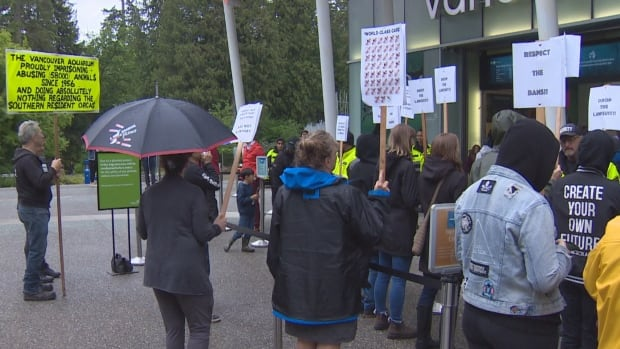 Vancouver Aquarium lawsuit against city, park board draws protest