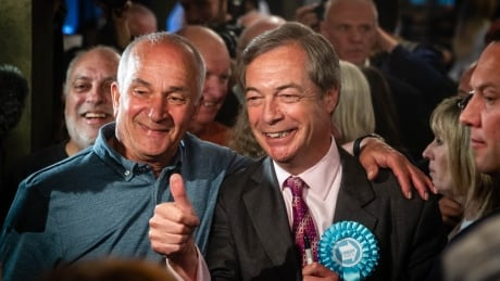 Farage and supporters