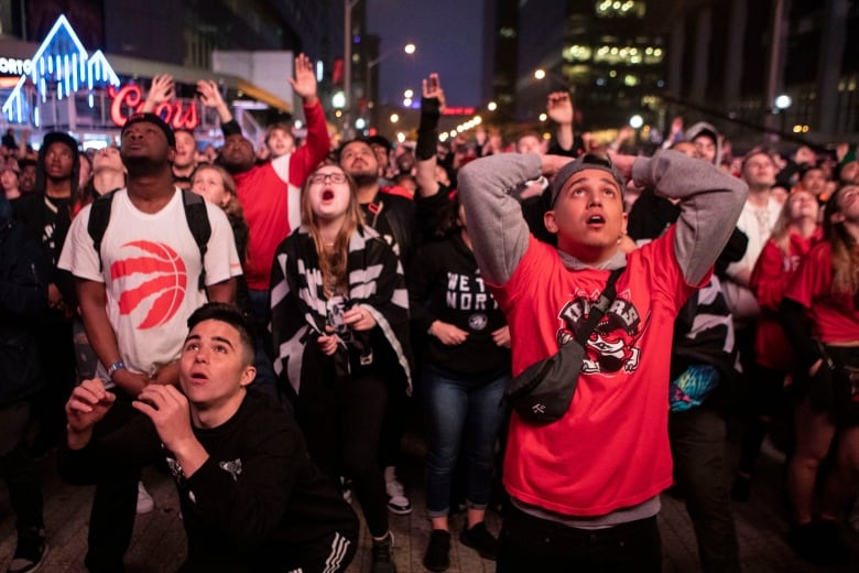 Watch these friends from N.B. react to winning trip to see Raptors in Game 2
