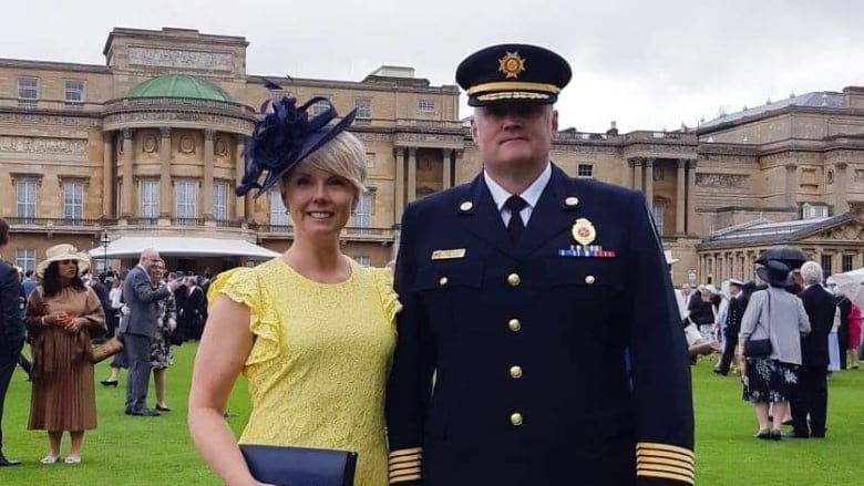 Once in a lifetime': Leamington Fire chief attends Garden Party at