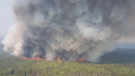 High Level Chuckegg Creek fire