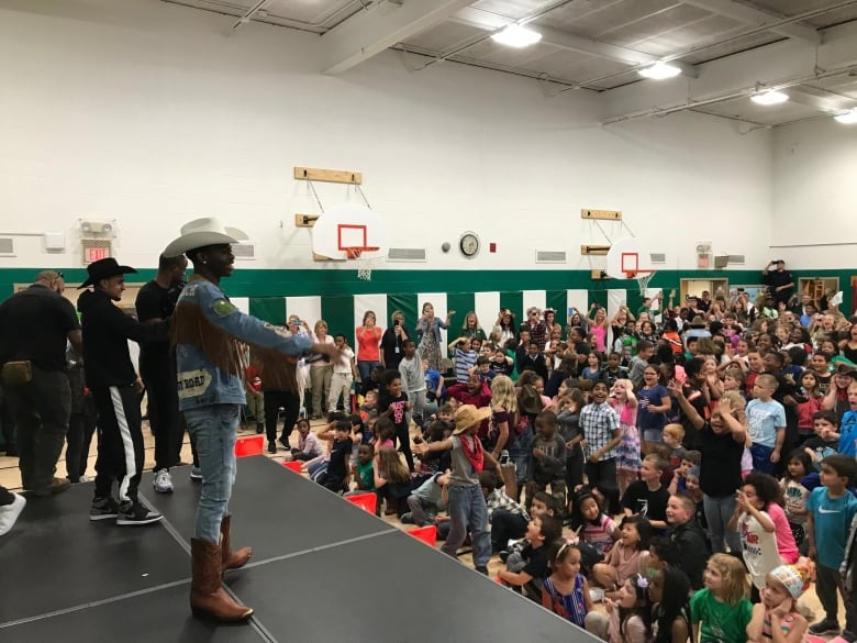 Lil Nas X surprises a gym full of elementary schoolers with