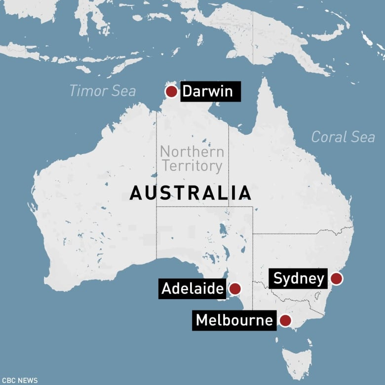 Northern Australia Map.Man In Custody After 4 Killed In Shooting In Northern Australia
