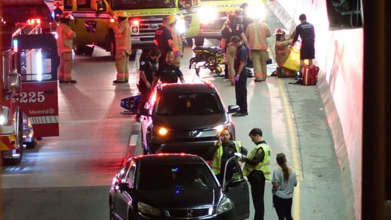 Motorcyclist dies in Ville-Marie tunnel crash | CBC News