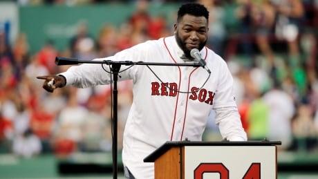 Red Sox Ortiz Ceremony Baseball