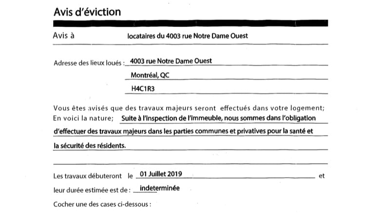 Watch out for fake eviction notices, says Quebec's rental board