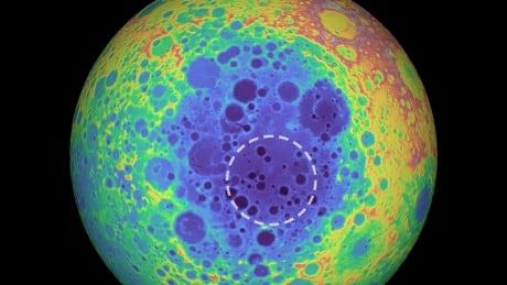 South pole moon mass