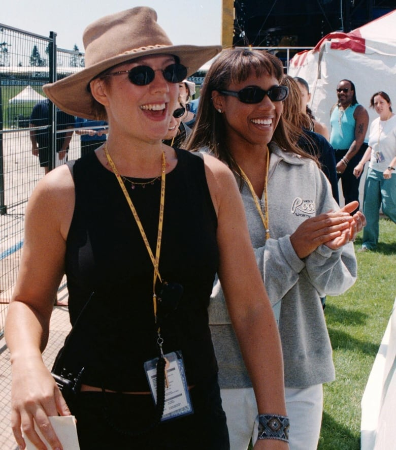 b3a27735460d Sarah McLachlan and Deborah Cox enter a news conference in Vancouver July  8, 1999 to launch Lilith Fair. (Don MacKinnon/Canadian Press)
