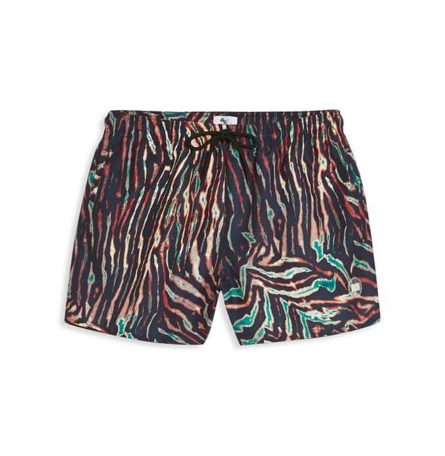 Tiger Rock Mens Trunks Beach Board Shorts Drawstring Waist Mesh Lining