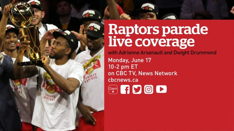 Everything you need to know about the Raptors' victory parade Monday