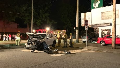 Van crashes into Burnaby auto shop