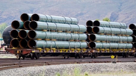 Pipes arrive by train