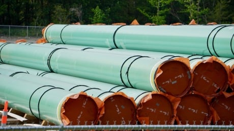 Trans Mountain pipes in Hope