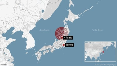 Japan Earthquake Tsunami Graphics Map 16x9