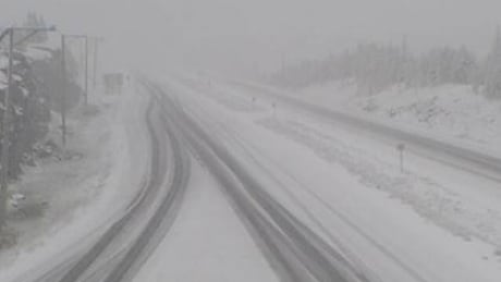 'Thunder snow' warning after snowfall blankets sections of B.C. highway